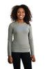 Grey Marle long sleeve t shirt (womens) - front