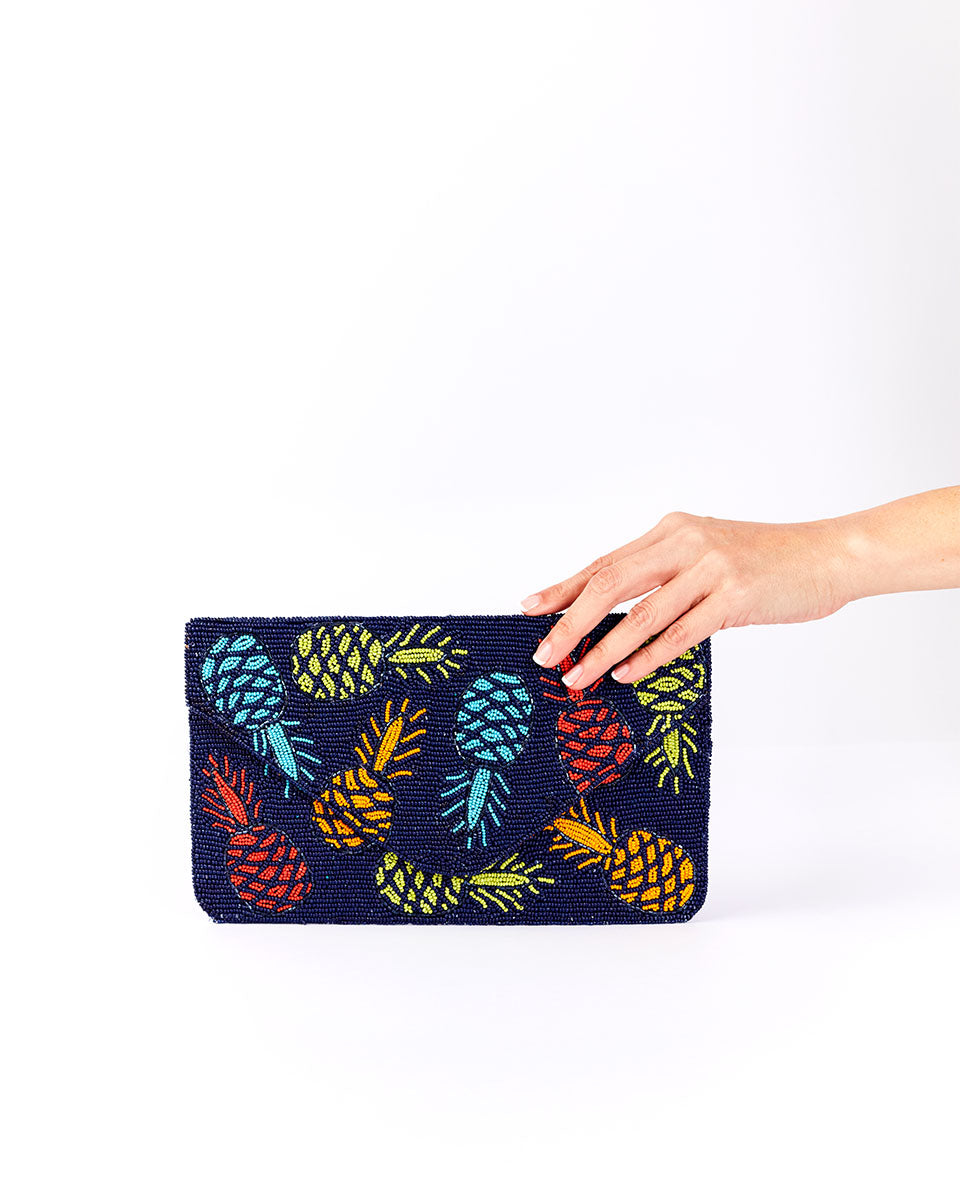 Handbeaded Clutch (Pineapple Express)