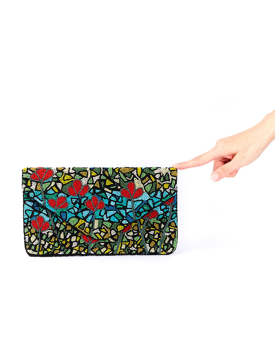 Handbeaded Clutch (Stained)