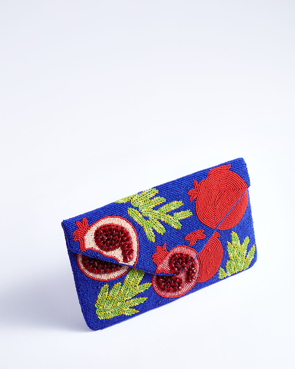 Handbeaded Clutch (Seedy Pomegranates)