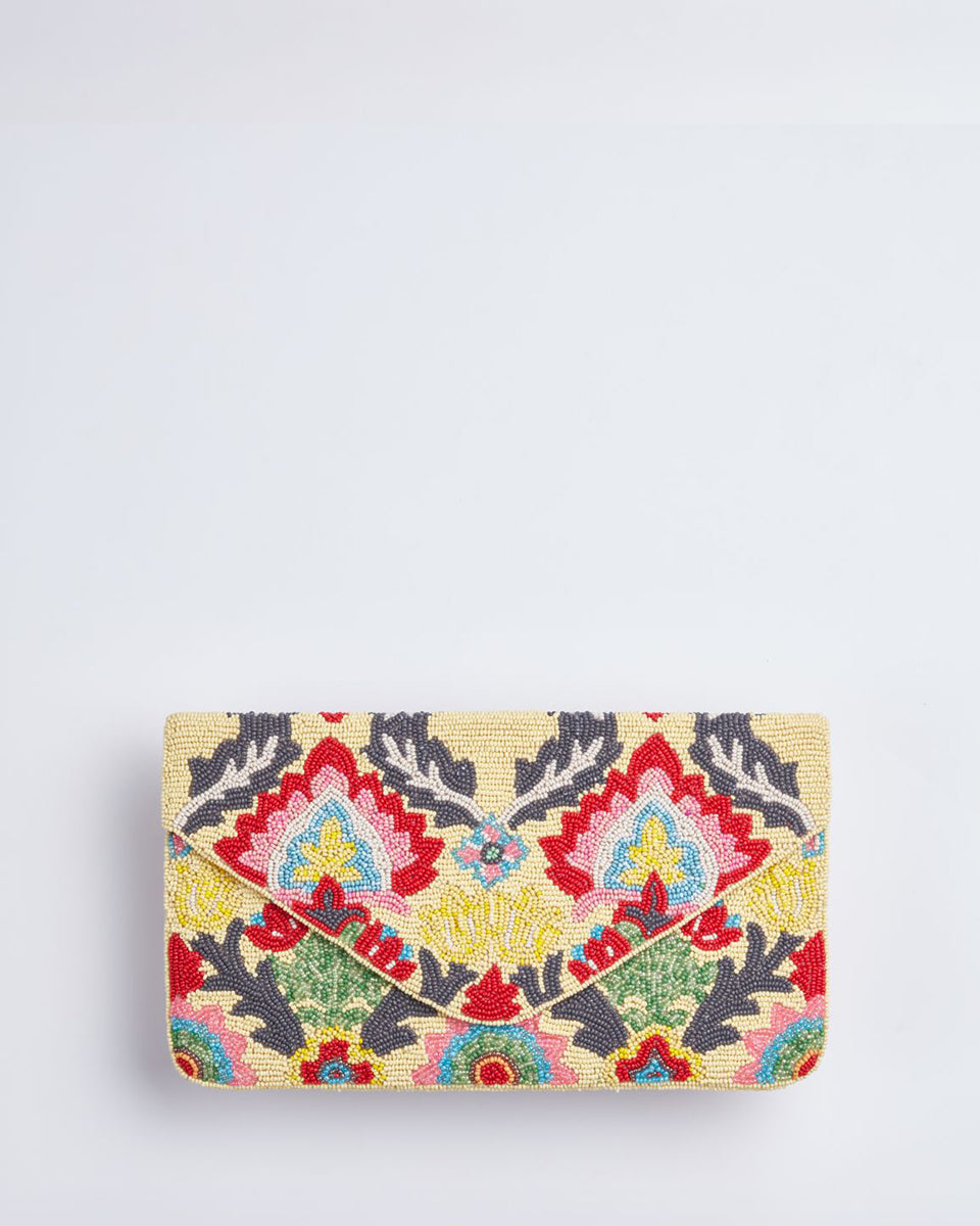 Handbeaded Clutch (Crewel Tapestry)