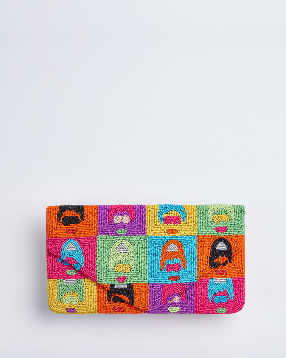 Handbeaded Clutch (Warhol's Audrey)