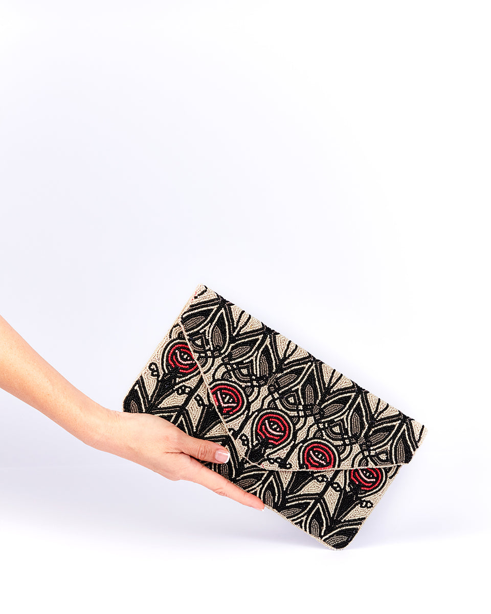 Handbeaded Clutch (Art Deco Stained Glass by CRM)