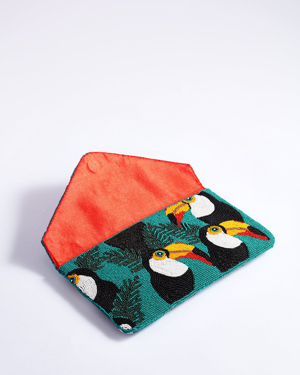 Handbeaded Clutch (Toucan Fly)