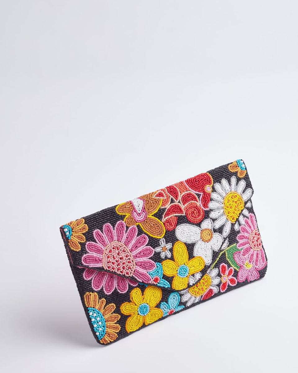Handbeaded Clutch (Happiness Bouquet)