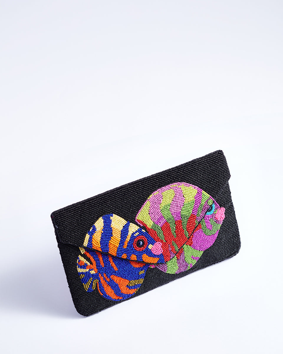 Handbeaded Clutch (Fishy Fishy)