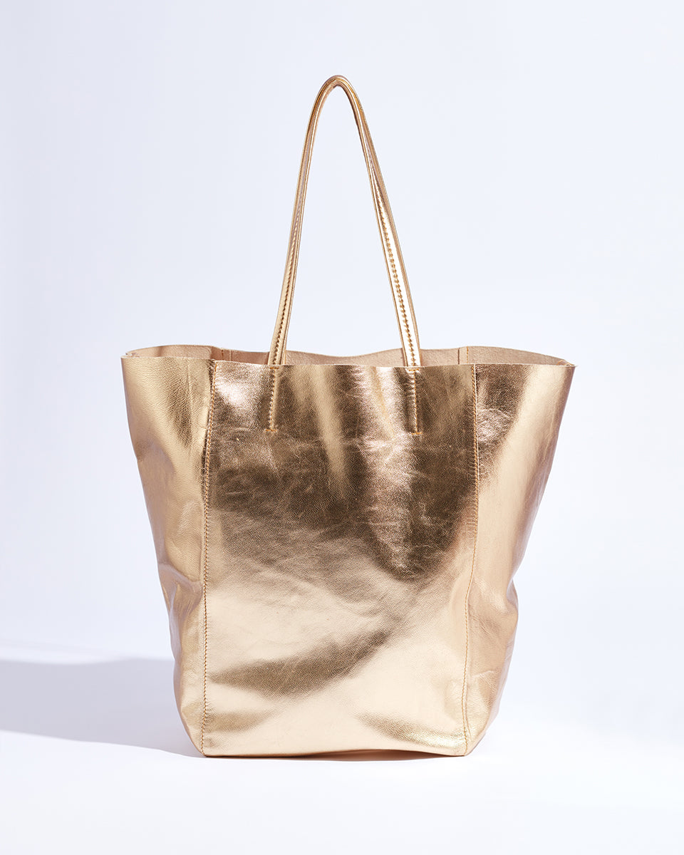 My Everyday Tote (Metallic Gold)