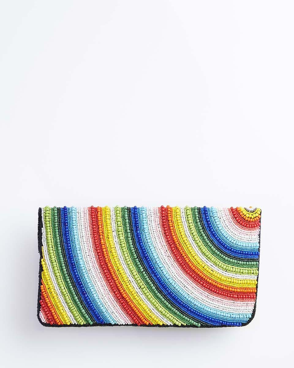 Handbeaded Clutch (Rainbow Connection)