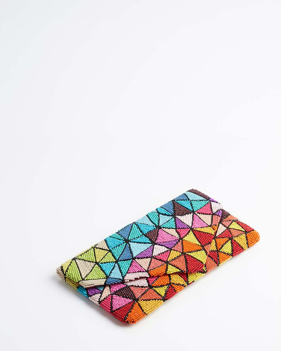 Handbeaded Clutch (Kaleidoscopic Prism)