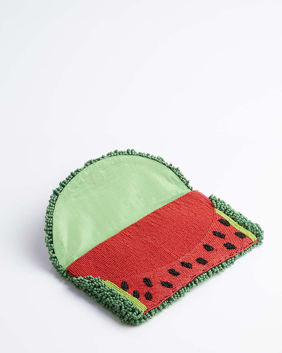 Handbeaded Clutch (Lose your Rind Mr Watermelon)