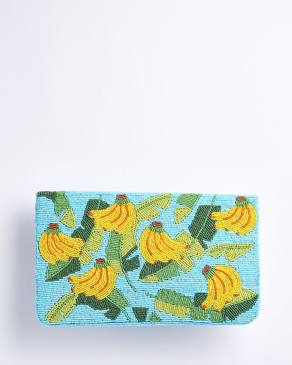 Handbeaded Clutch (Going Bananas)