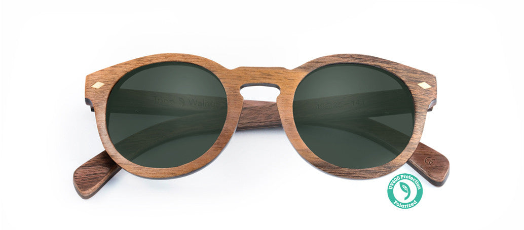 Wooden Sunglasses - TRIPP ▴ WALNUT