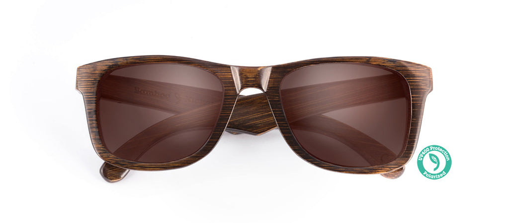 bamboo sunglasses front