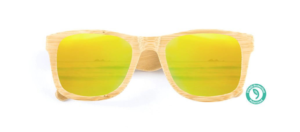 Wooden Sunglasses - KICKER ▴ BAMBOO ▴ REVO