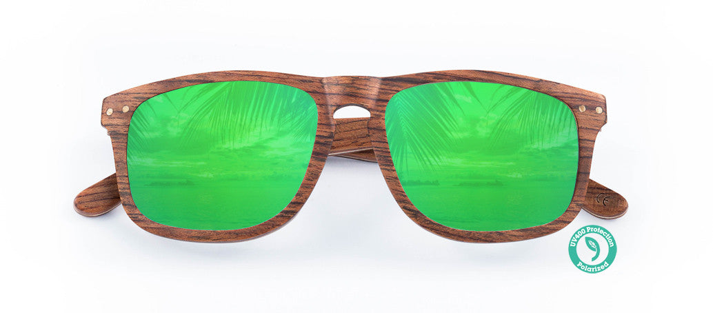Wooden Sunglasses - LENNOX ▴ EBONY ▴ REVO