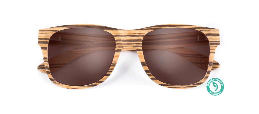 Wooden Sunglasses - TALLOW ▴ ZEBRAWOOD