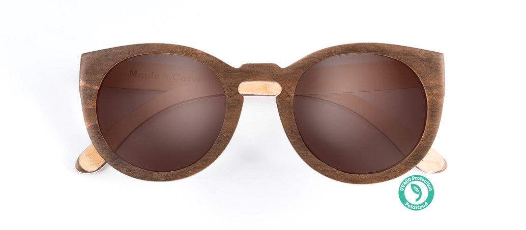 Wooden Sunglasses - CARVE ▴ MAPLE