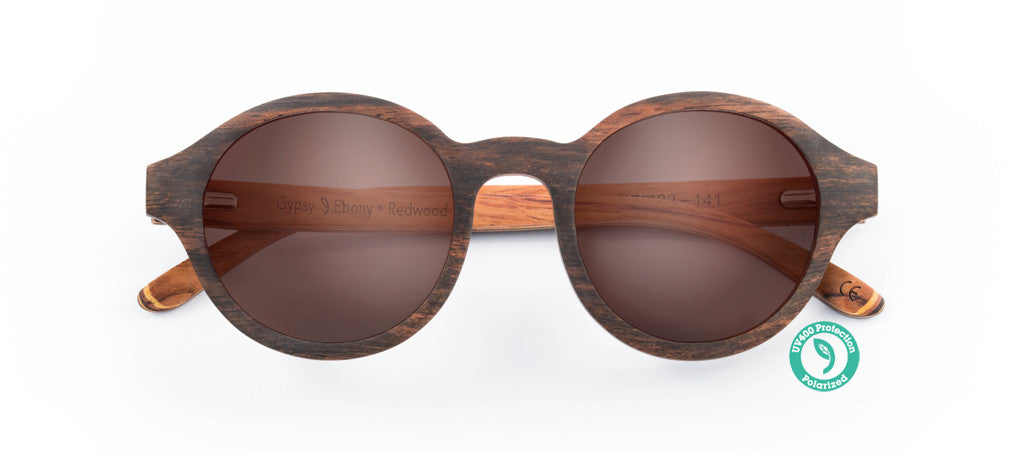 Wooden Sunglasses - GYPSY ▴ EBONY