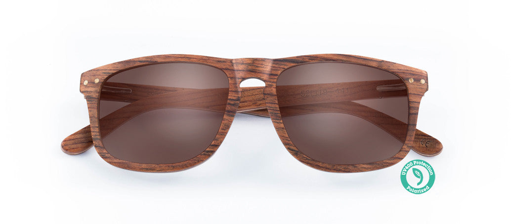 Wooden Sunglasses - LENNOX ▴ RED EBONY