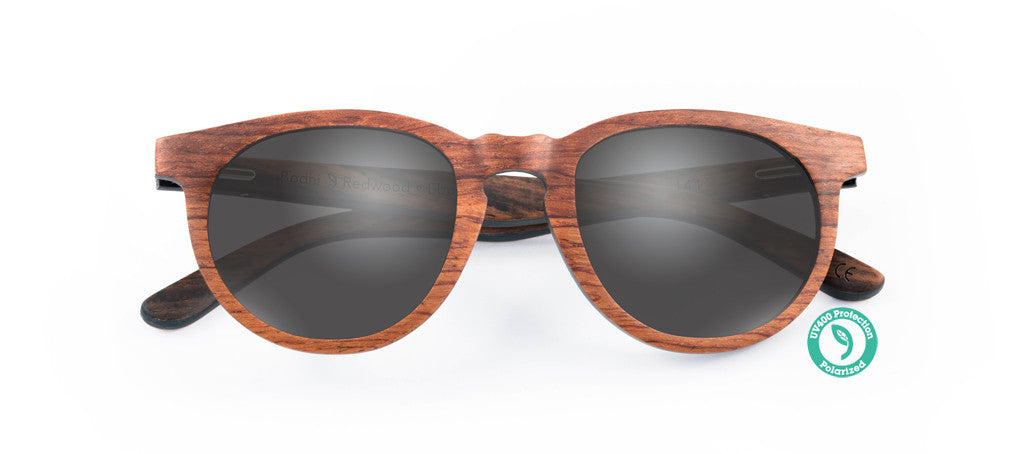 Wooden Sunglasses - BODHI ▴ REDWOOD