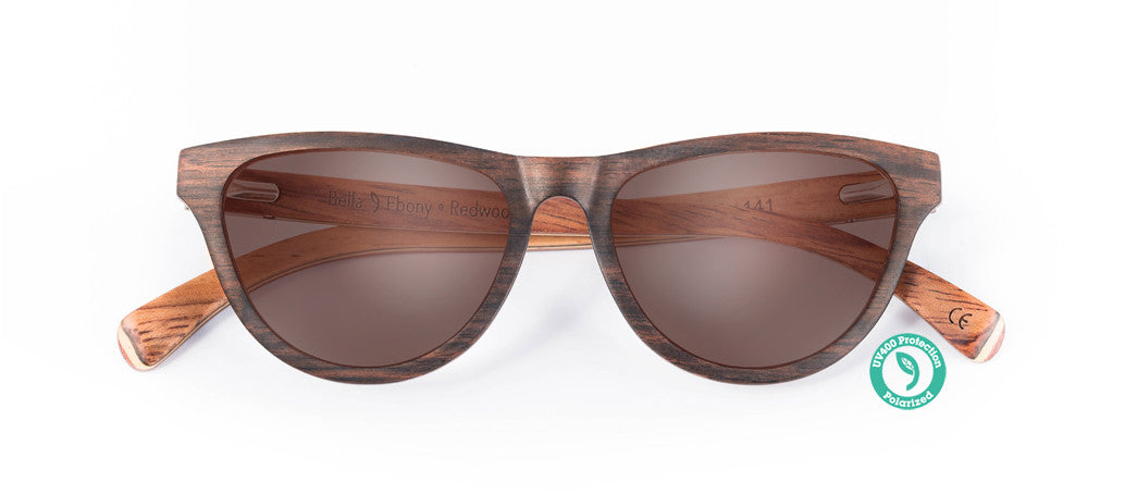 Wooden Sunglasses - BELLA ▴ EBONY