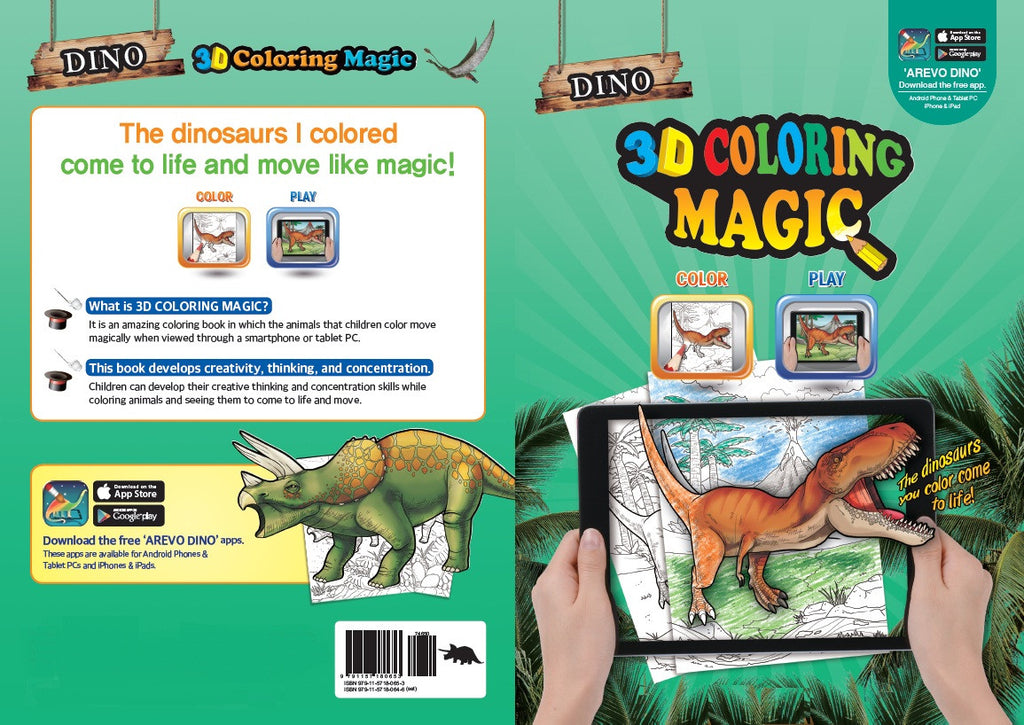 Augmented Reality Color Book Dinosaur
