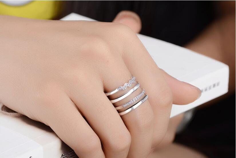 Multi Band Open Fashion Women Ring
