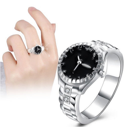 Watch Shape Women Fashion Ring