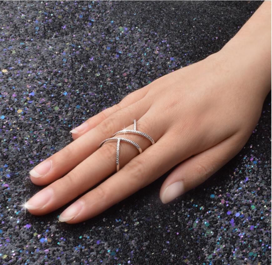 Multi-Line Finger Long Fashion Ring