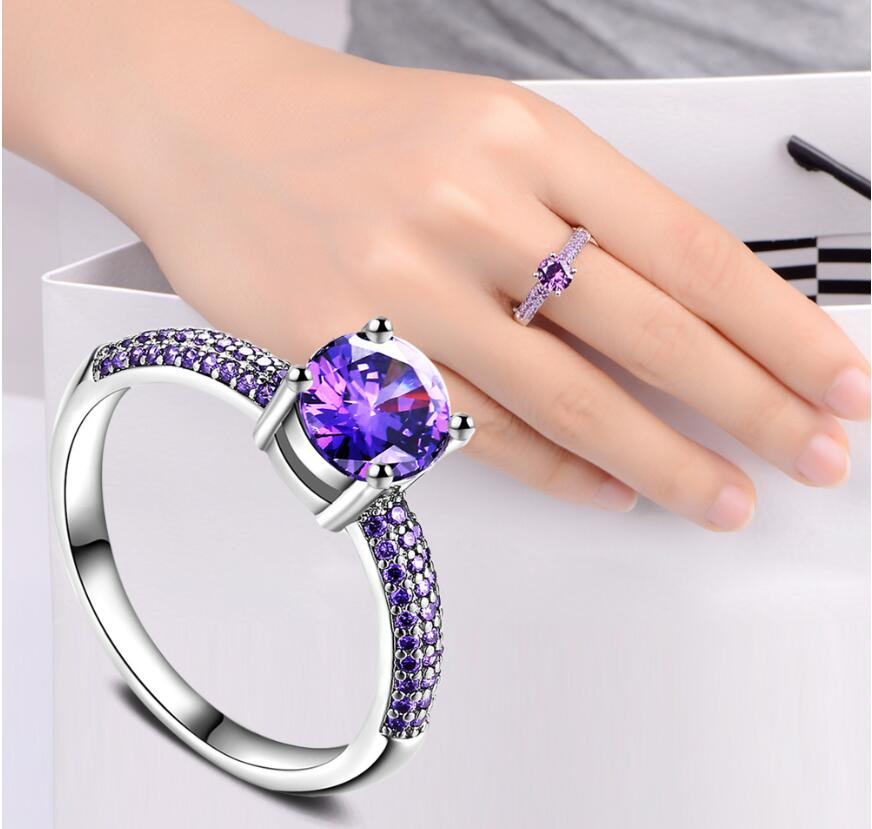 Purple Engagement Ring For Women