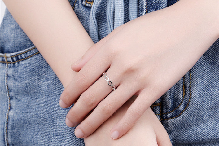 Silver Infinity Fashion Ring