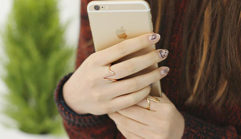 Rose Gold Daily Casual Fashion Ring