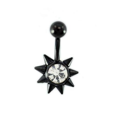 Sun Black Titanium Belly Button Rings