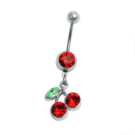 Red Cheery Belly Button Rings - TSZjewelry
