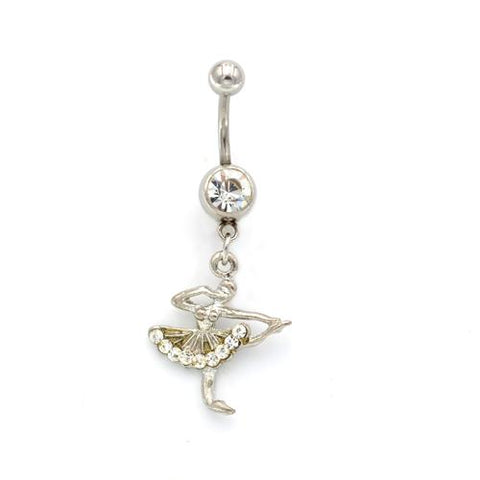 Ballet Girl Belly Button Rings - TSZjewelry