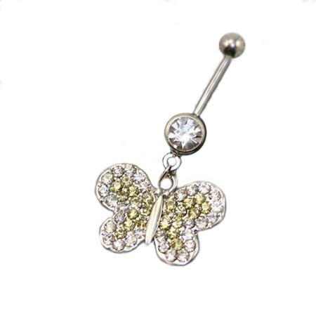 Crystaline Butterfly Belly Button Rings