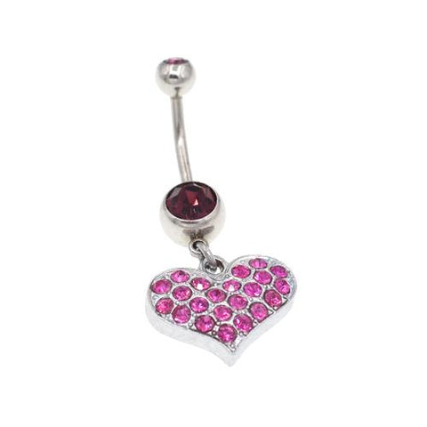 Purple Heart Belly Button Rings