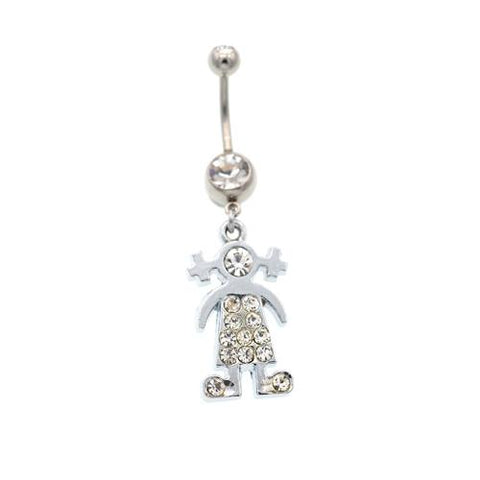 Girl Dangling Belly Button Rings - TSZjewelry