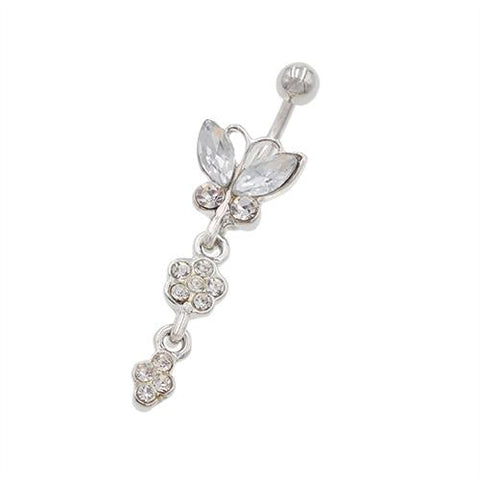 Non Dangled Butterfly Belly Button Rings