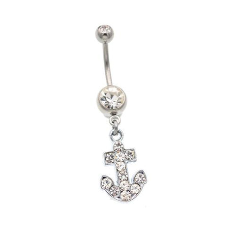 Anchor Dangling Belly Button Rings - TSZjewelry