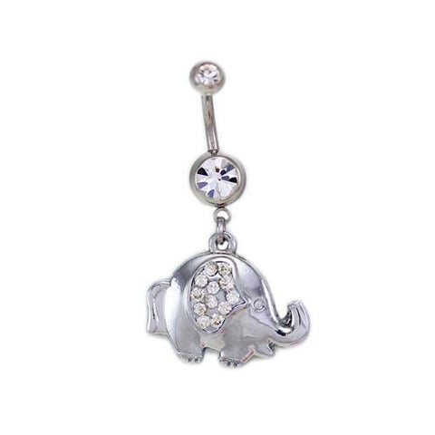 Elephant Dangling Belly Button Rings