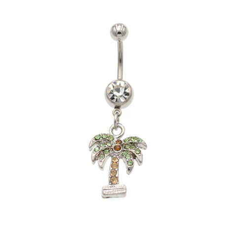 Coco Tree Dangling Belly Button Rings - TSZjewelry