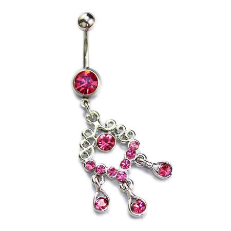 Dangling Chinese Knot Belly Button Rings - TSZjewelry