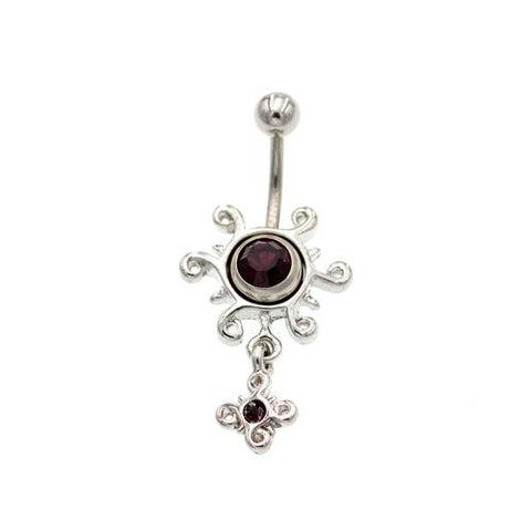 Purple Sun Non Dangling Belly Button Rings
