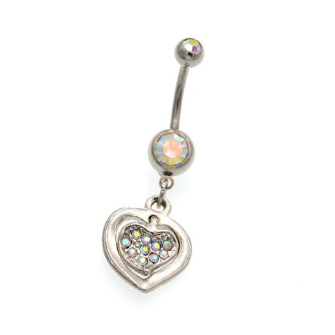 Heart to Heart Bell Button Rings