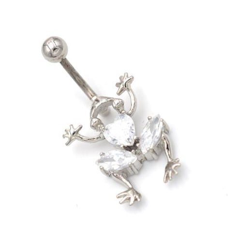 Crystaline Non Dangling Frog Belly Rings
