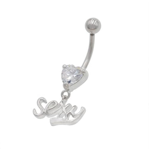 Clear Gem Sexy Letter String Belly Rings - TSZjewelry