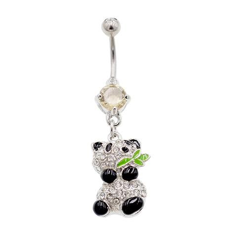 Cute Dangling Panda Belly Button Rings - TSZjewelry