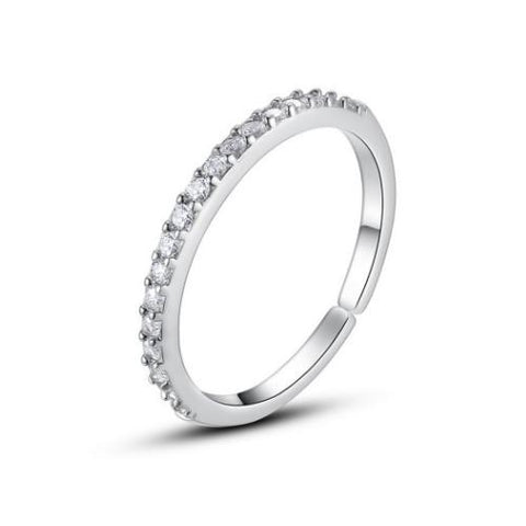 Eternity CZ Platinum Plated Copper Open Band ring? - TSZjewelry
