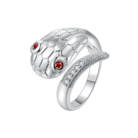 Red Eye Snake Animal Open Fashion Ring - TSZjewelry